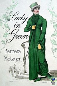 Lady in Green (large print paperback) by Barbara Metzger